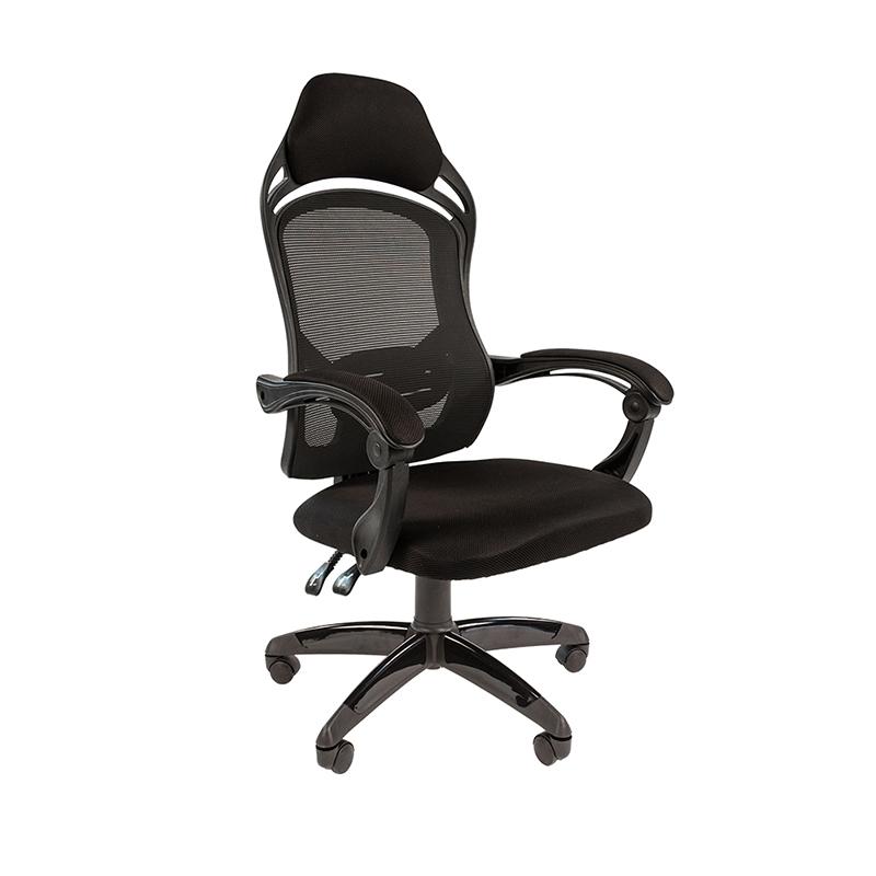 Biroja krēsls CHAIRMAN GAME 12, melns audumu, melns pamats
