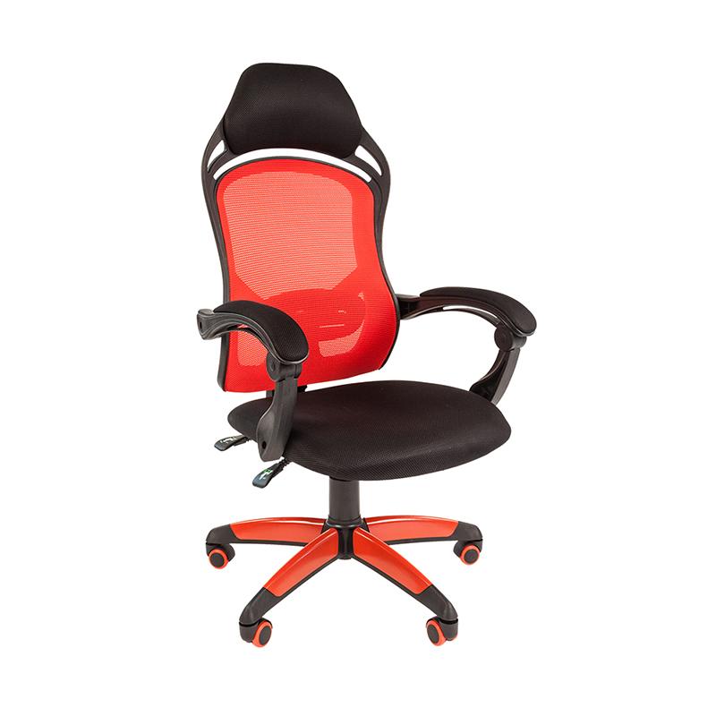Biroja krēsls CHAIRMAN GAME 12, melns/sarkans  audumu, melns/ sarkans pamats