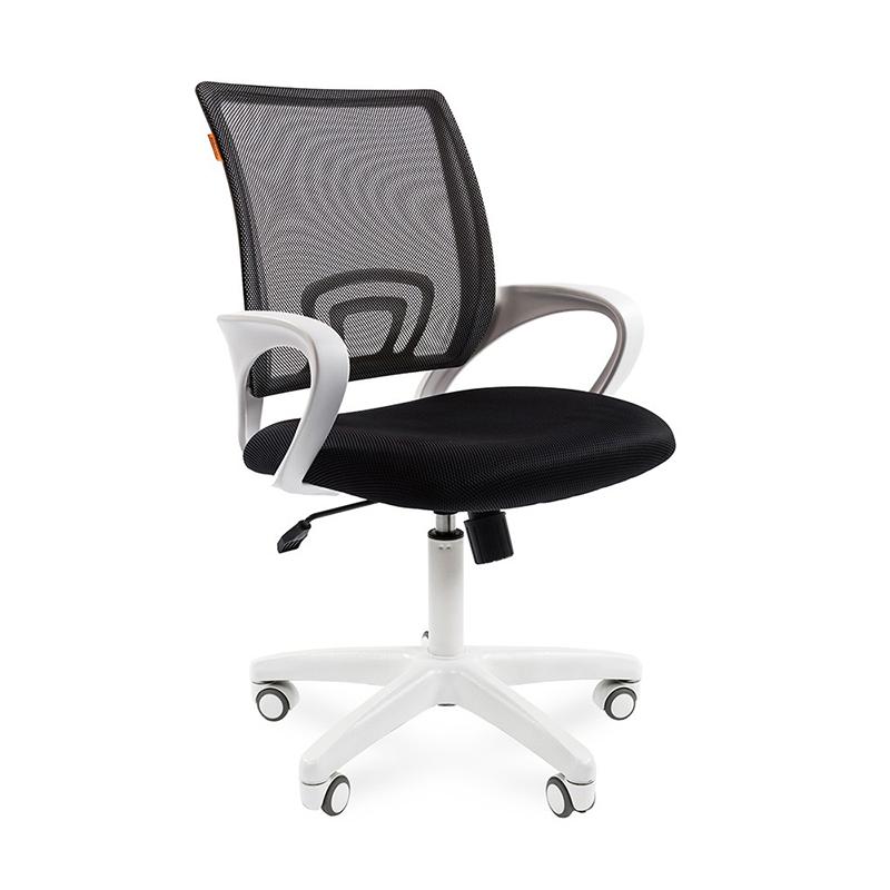 Biroja krēsls CHAIRMAN 696 WHITE, melnā krāsā