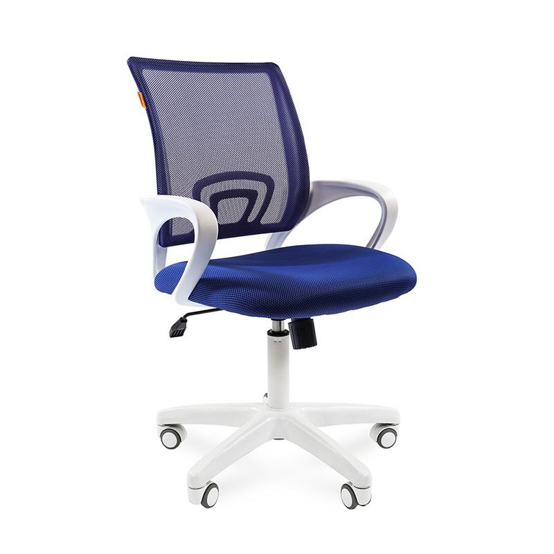 Biroja krēsls CHAIRMAN 696 WHITE, zilā krāsā