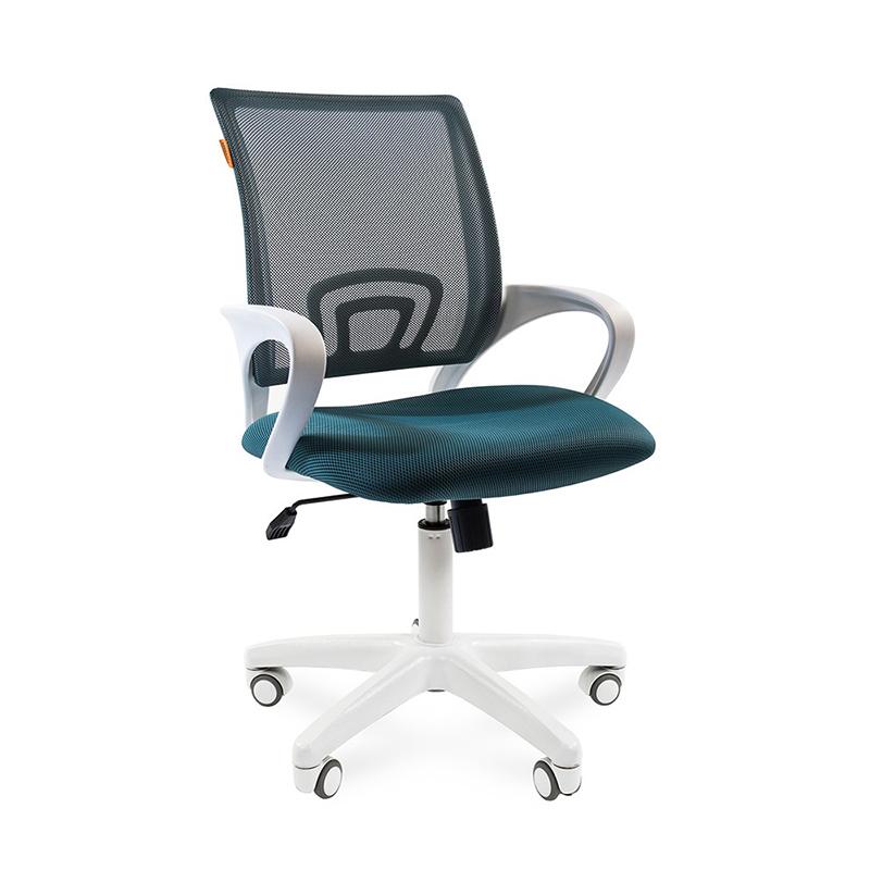 Biroja krēsls CHAIRMAN 696 WHITE, zaļā krāsā