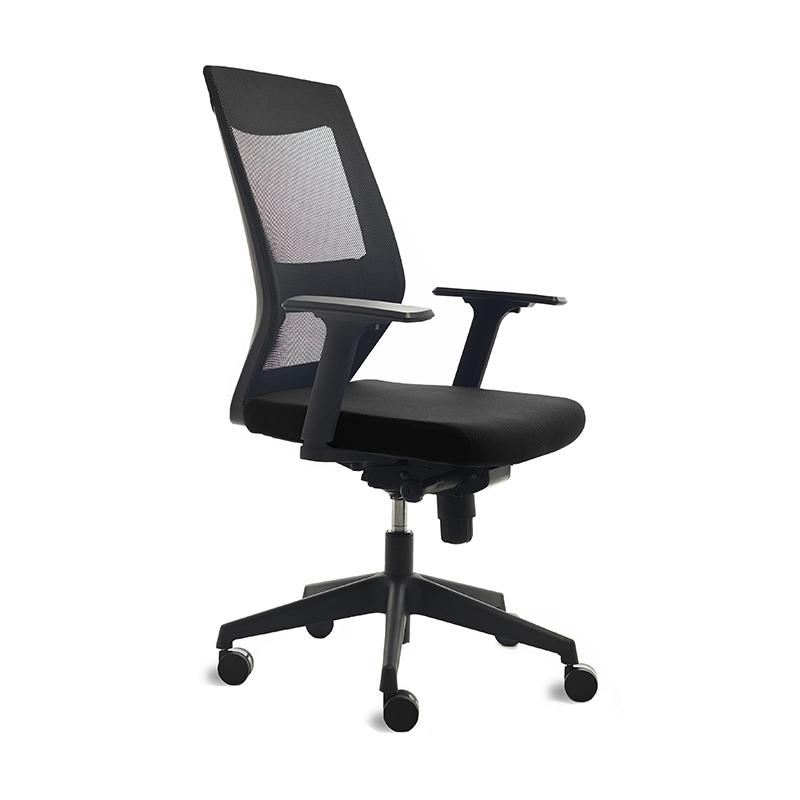 Ergonomisks biroja krēsls ROCADA 908 melns audums, melns pamats