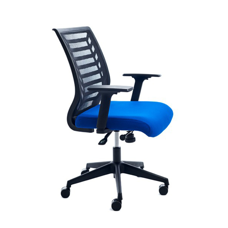Ergonomisks biroja krēsls ROCADA 907 zils audums, melns pamats