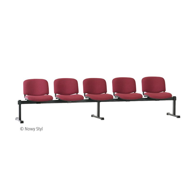 Krēsli NOWY STYL Iso 5, 5 sēdvietas uz karkasa, tumši  pelēkā krāsā