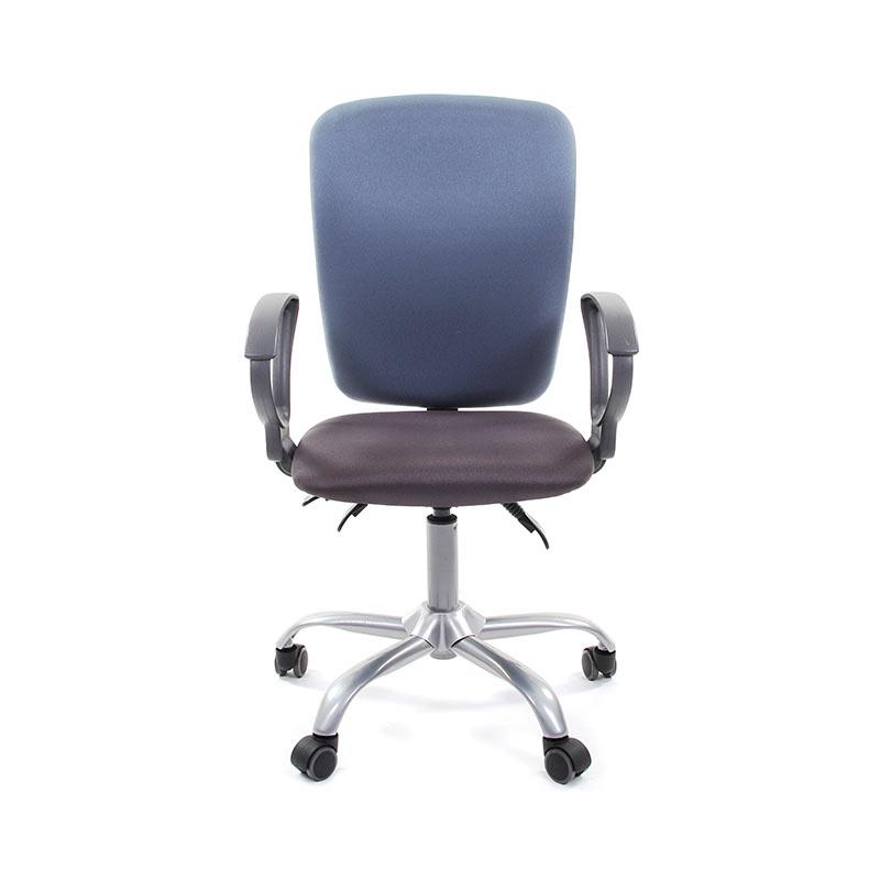Biroja krēsls CHAIRMAN 9801 zils audums, hromēta pamatne