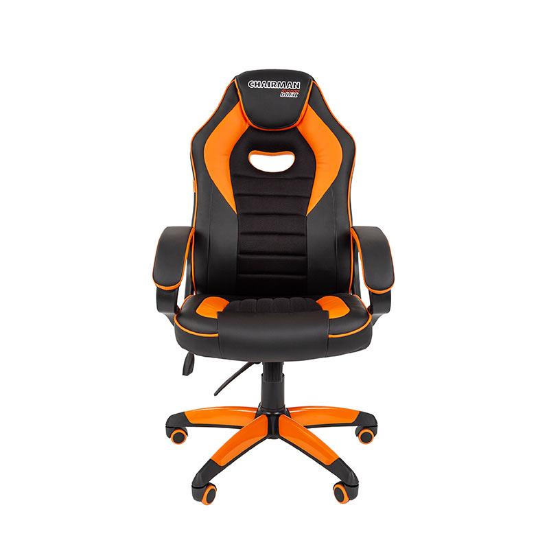 Biroja krēsls CHAIRMAN GAME 16, melns/oranžs