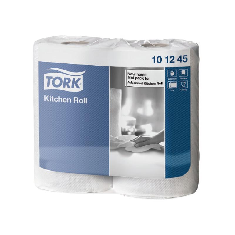 Papīra dvieļi TORK Advanced Kitchen Extra Long, 2.sl., 140 lapiņas rullī, 20 cm x 39 m, 2 ruļļi pakā, baltā krāsā