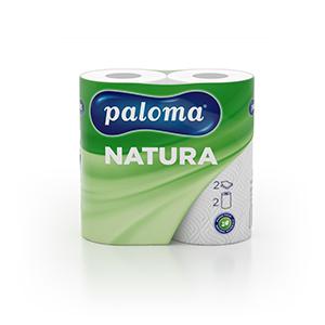 Papīra dvieļi PALOMA NATURA, 2 sl., 50 lapas rullī, 22 cm x 11.5 m, 2 ruļļi, nebalināti