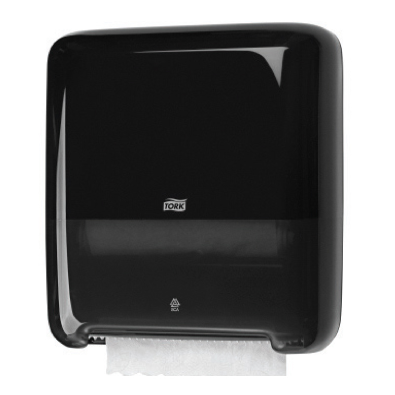 Roku dvieļu ruļļu dozators TORK Matic, 372 x 337 x 203 mm, melnā krāsā