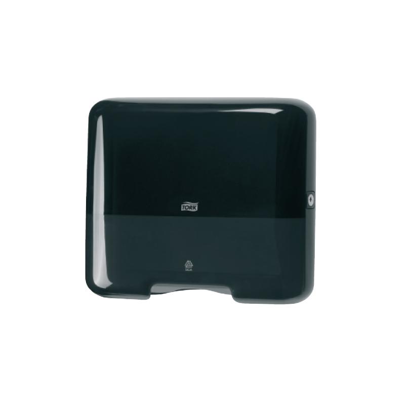 Roku dvieļu dozators TORK SINGLEFOLD/C-FOLD MINI, 291 x 332 x 135 mm, melnā krāsā