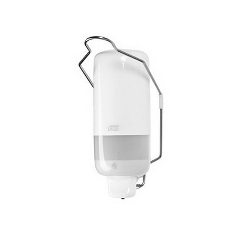 Šķidro ziepju turētājs TORK S1 ar rokas sviru, tilpums 1 L, 114 x 112 x 291 mm, baltā krāsā