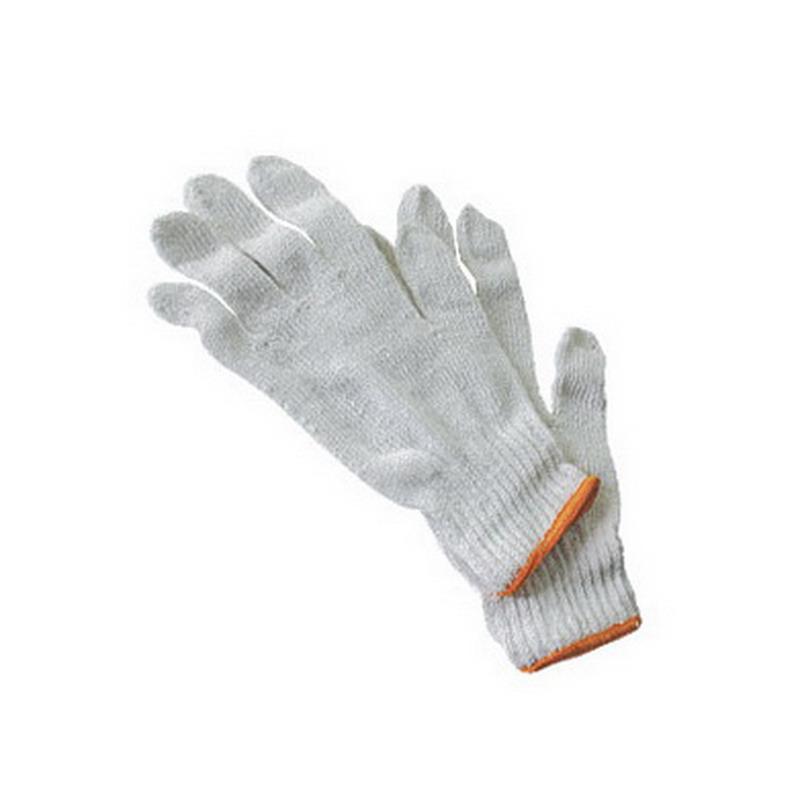 Darba cimdi pirkstaiņi ar krāsainu gumiju, pāris