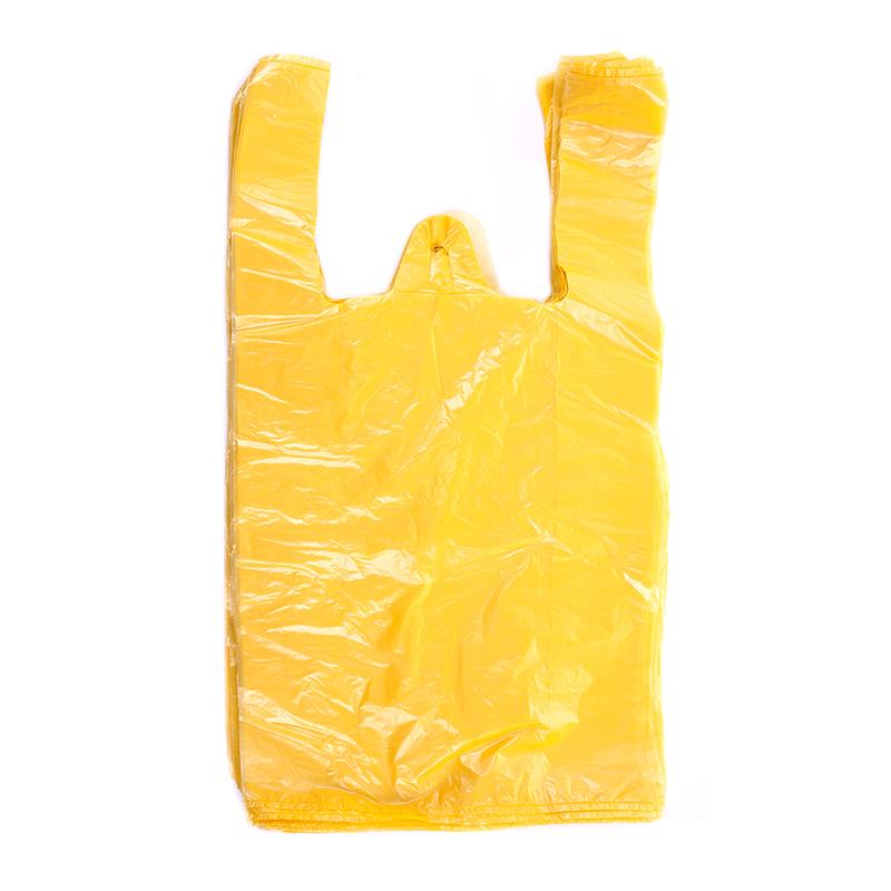 Maisiņi, 25 x 12 x 45 cm, 12 mkr,  HDPE, dzeltenā krāsā