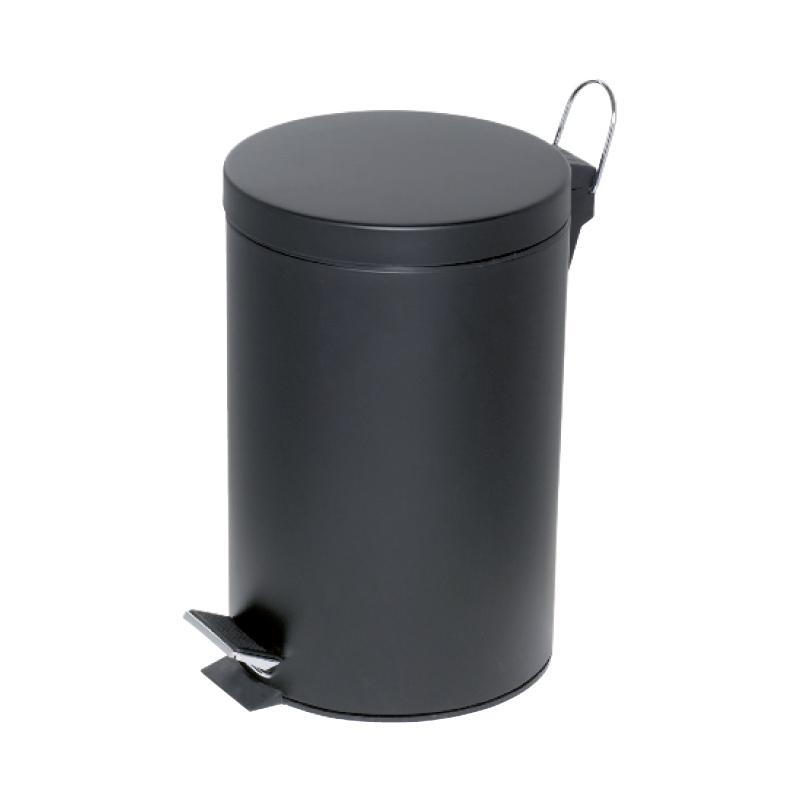 Atkritumu tvertne ALCO ar pedāli 12 L, melnā krāsā
