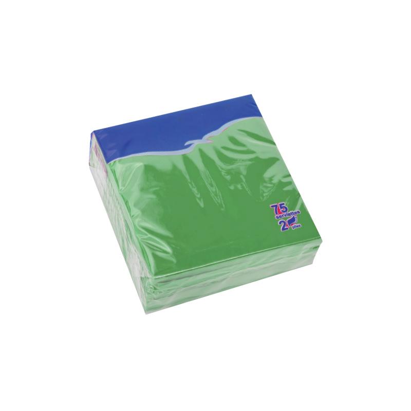 Salvetes LENEK, 2 sl., 75 salvetes, 24 x 24 cm, zaļā krāsā