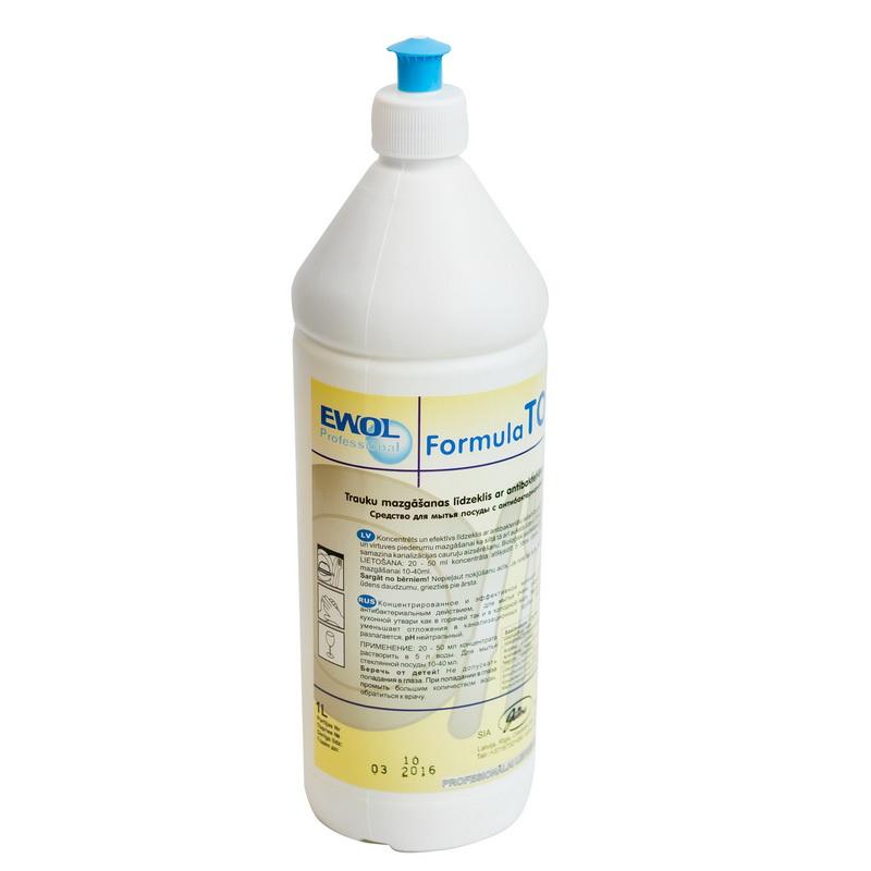 Trauku mazgāšanas līdzeklis ar antibakteriālu iedarbību EWOL Professional Formula TOP, 1 L