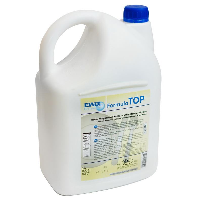 Trauku mazgāšanas līdzeklis ar antibakteriālu iedarbību EWOL Professional Formula TOP, 5 L