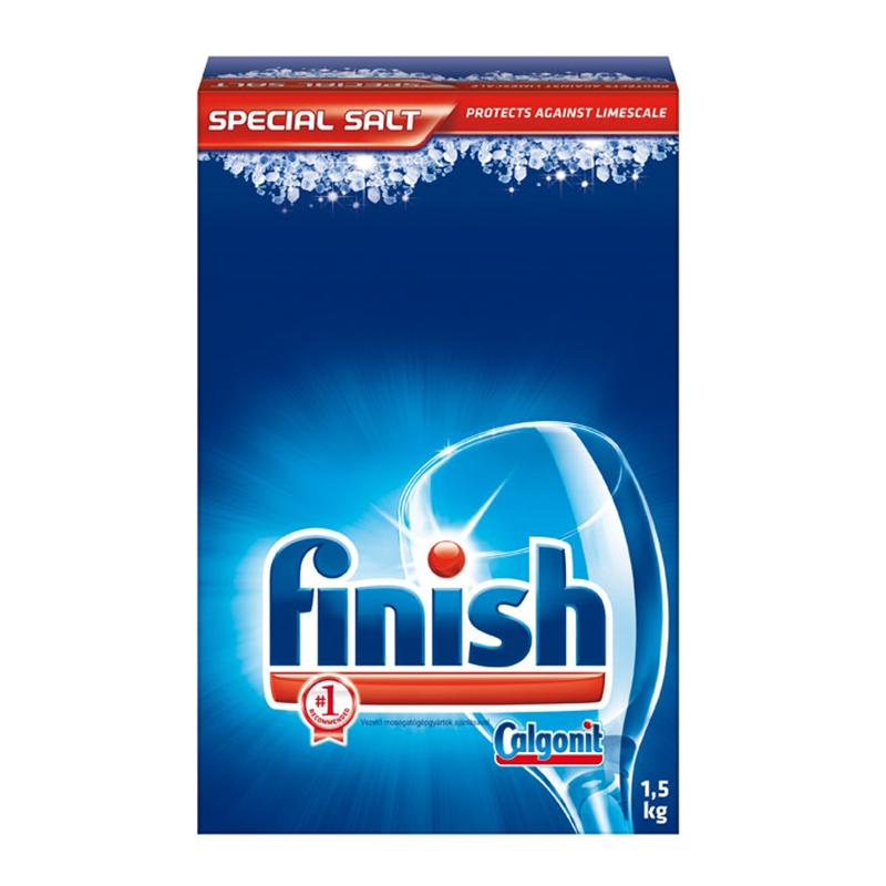 Sāls trauku mazgāšanas mašīnām FINISH 1.5 kg