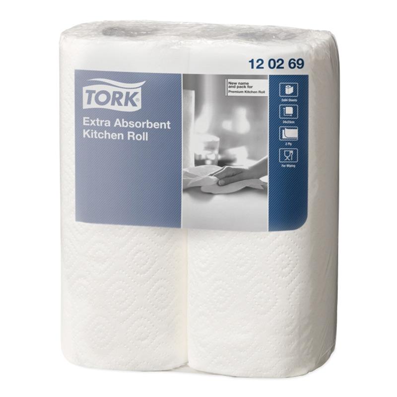 Roku dvieļi TORK Premium Kitchen, 2 sl., 64 lapiņas rullī, 24 cm x 16 m, baltā krāsā