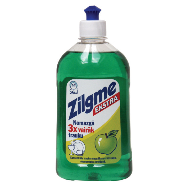 Trauku mazgāšanas līdzeklis ZILGME ar ābolu smaržu, 500 ml