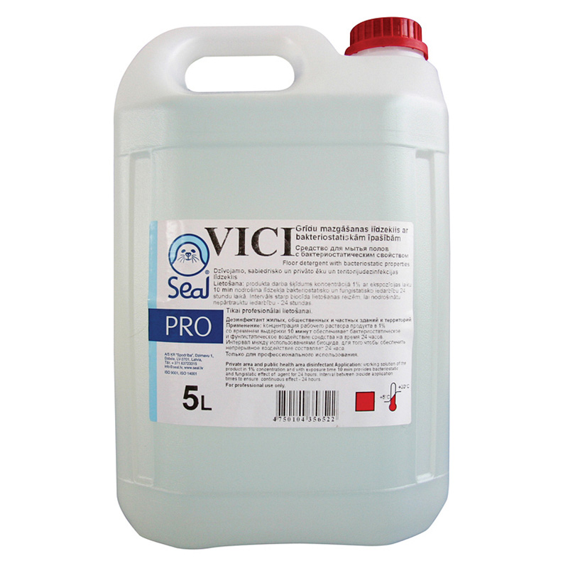 Grīdas mazgāšanas līdzeklis VICI ar bakteriostatiskām īpašībām, 5 L