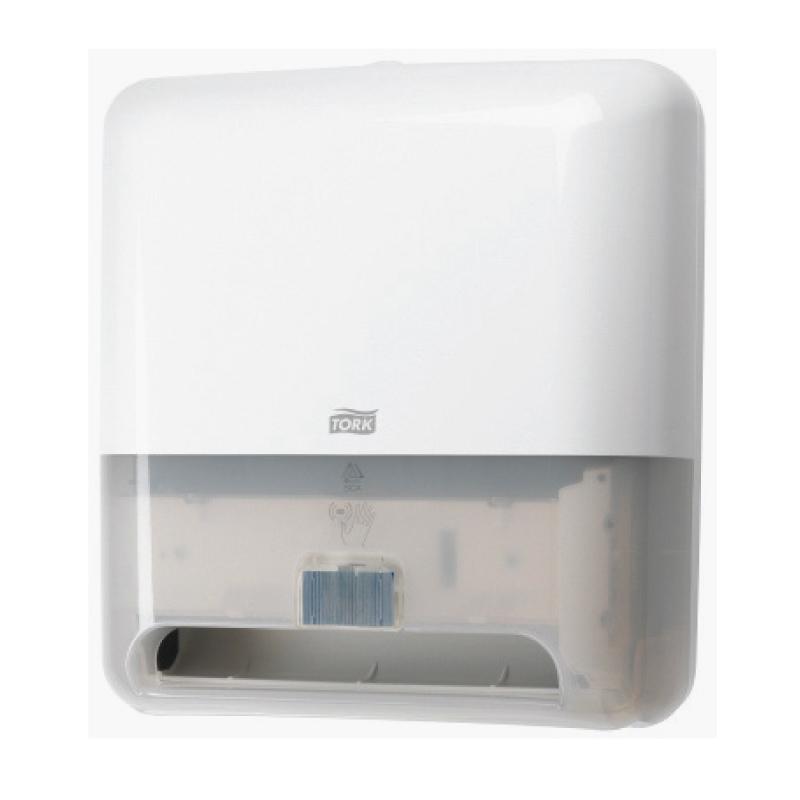 Roku dvieļu ruļļu dozators TORK Matic ar Intuition sensoru, 331 x 368 x 206 mm, baltā krāsā