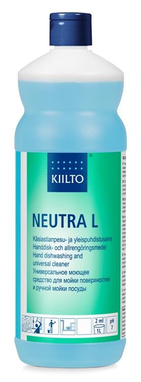 Trauku un dažādu virsmu mazgāšanas līdzeklis KIILTO Neutra L, 1 L