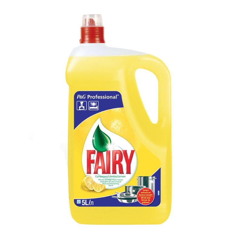 Trauku mazgāšanas līdzeklis FAIRY Expert Lemon, 5 L