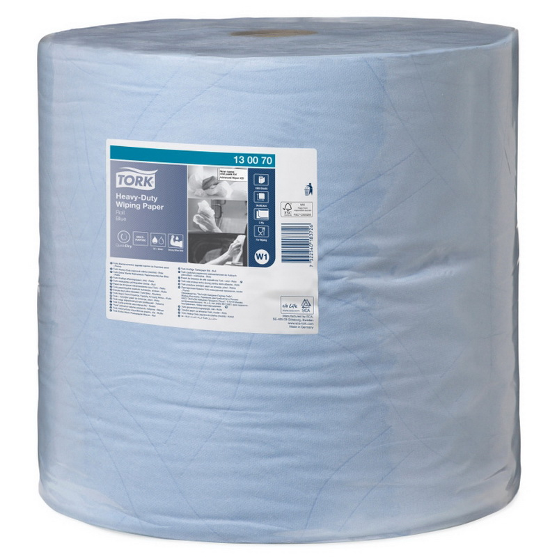 Industriālais papīrs TORK Advanced 430 W1, 2.sl., 1000 lapas rullī, 37 cm x 340 m, zilā krāsā