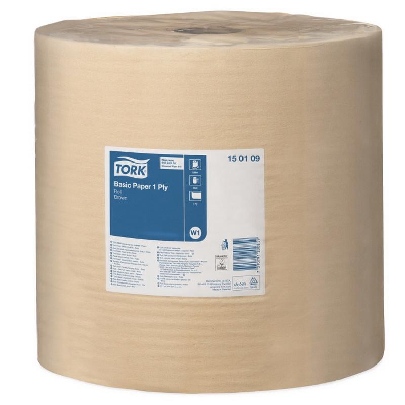 Industriālais papīrs TORK Universal 310 W1, 1 sl., 33 cm x 1000 m, brūnā krāsā
