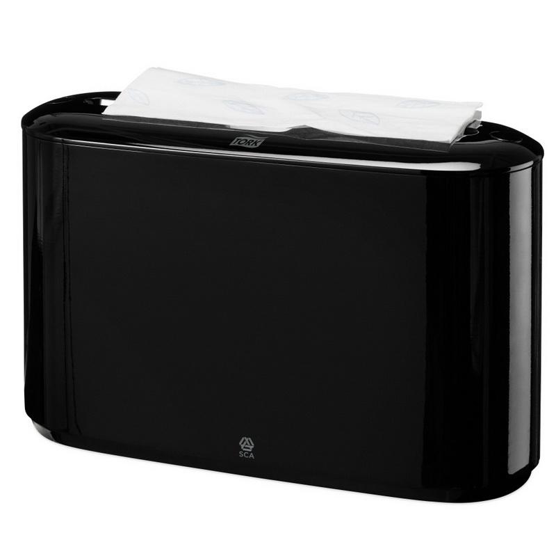 Salvešu turētājs TORK Xpress Countertop Multifold, 323 x 218 x 116 mm, melnā krāsā