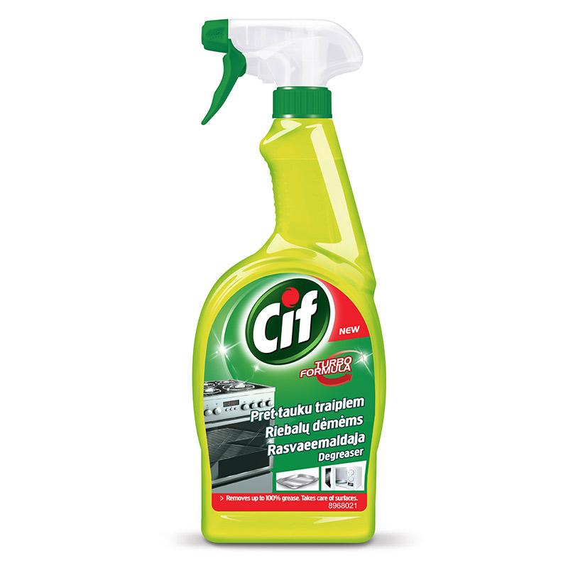 Tīrīšanas līdzeklis dažādām virsmām CIF ar smidzin..