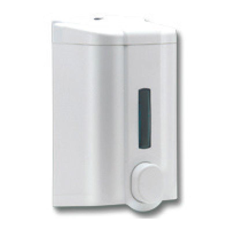 Šķidro ziepju dozators VIA, tilpums 1 L, 195 x 105 x 108 mm, baltā krāsā