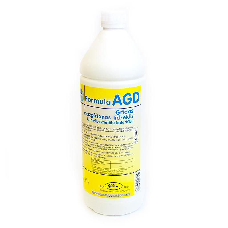 Grīdas mazgāšanas līdzeklis ar antibakteriālu iedarbību EWOL Professional Formula AGD, 1 L
