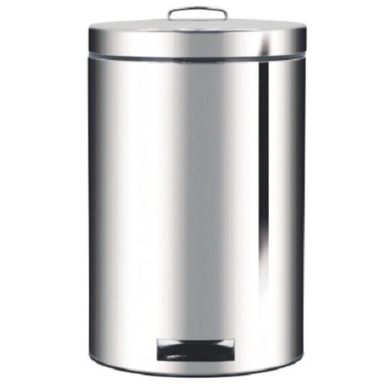 Atkritumu tvertne ar pedāli 5 L, sudraba krāsā