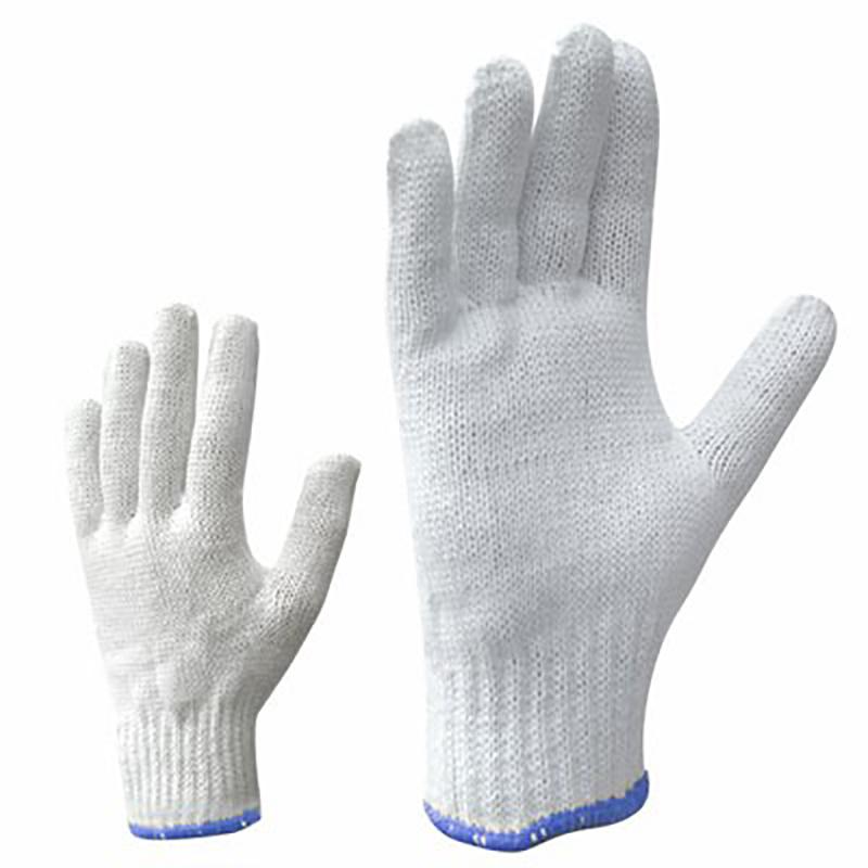 Darba cimdi pirkstaiņi, adīti, ar krāsainu gumiju, izmērs XL/10, pāris