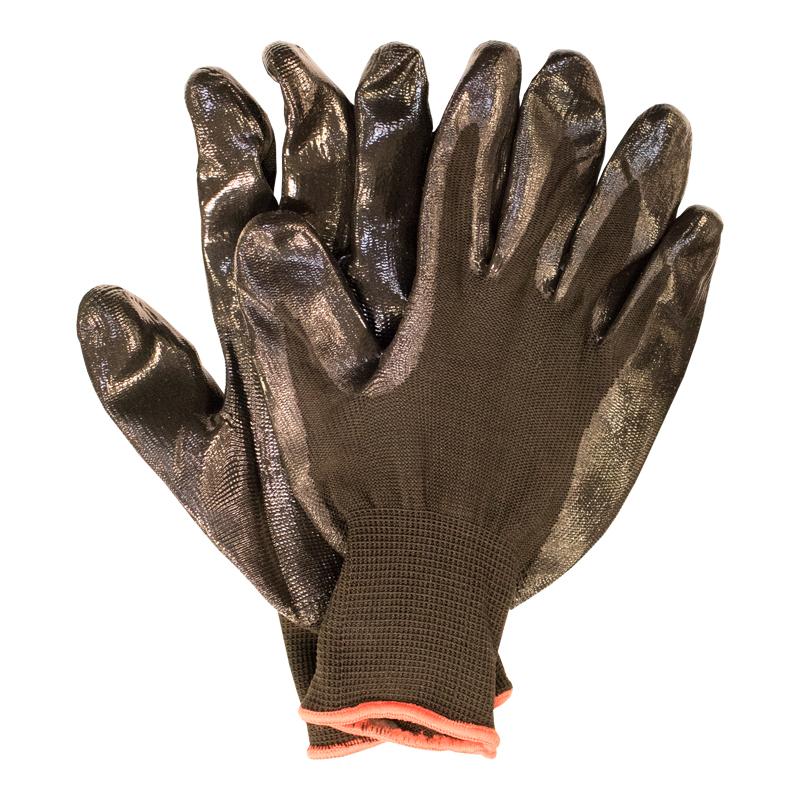 Darba cimdi pirkstaiņi, kokvilna ar nitrila pārklājumu, izmērs 9, pāris