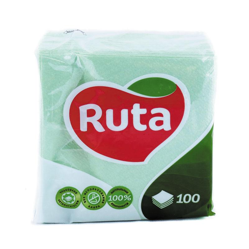 Salvetes RUTA, 1 sl., 100 salvetes, 24 x 24 cm, zaļā krāsā