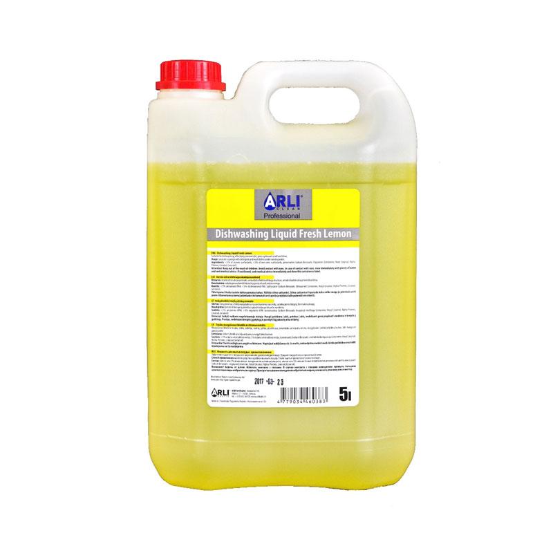 Trauku mazgāšanas līdzeklis ARLI CLEAN ar citronu aromātu, 5 l