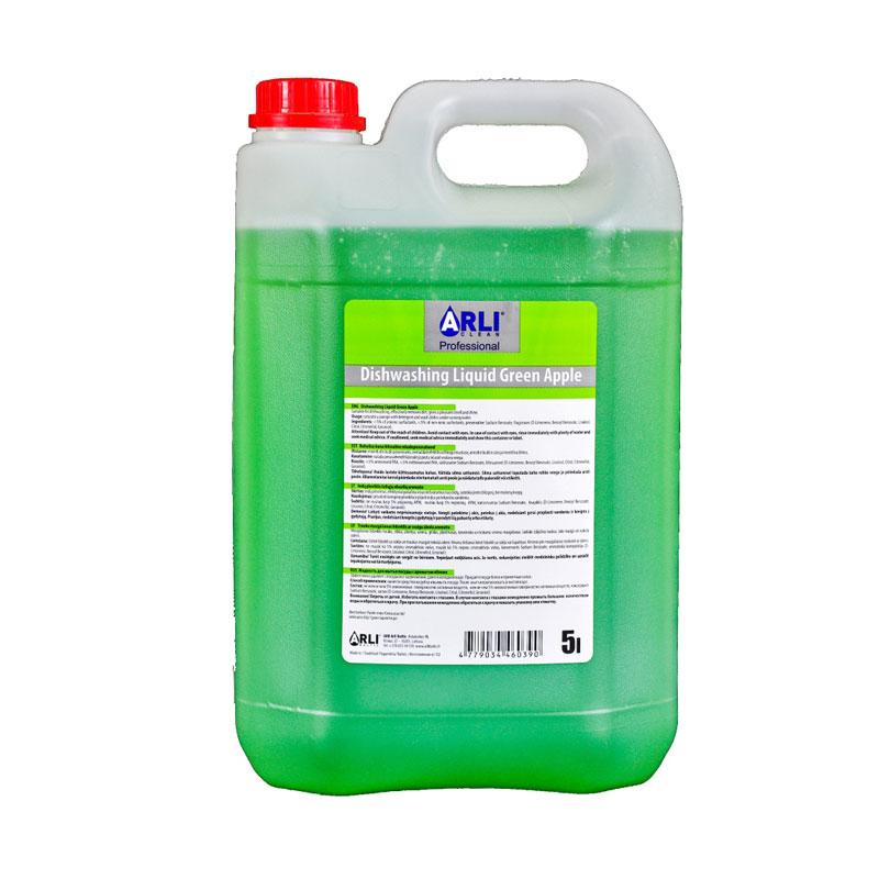 Trauku mazgāšanas līdzeklis ARLI CLEAN ar ābolu aromātu, 5 l