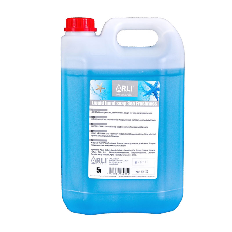 Šķidrās ziepes ARLI CLEAN Sea freshness, 5 l