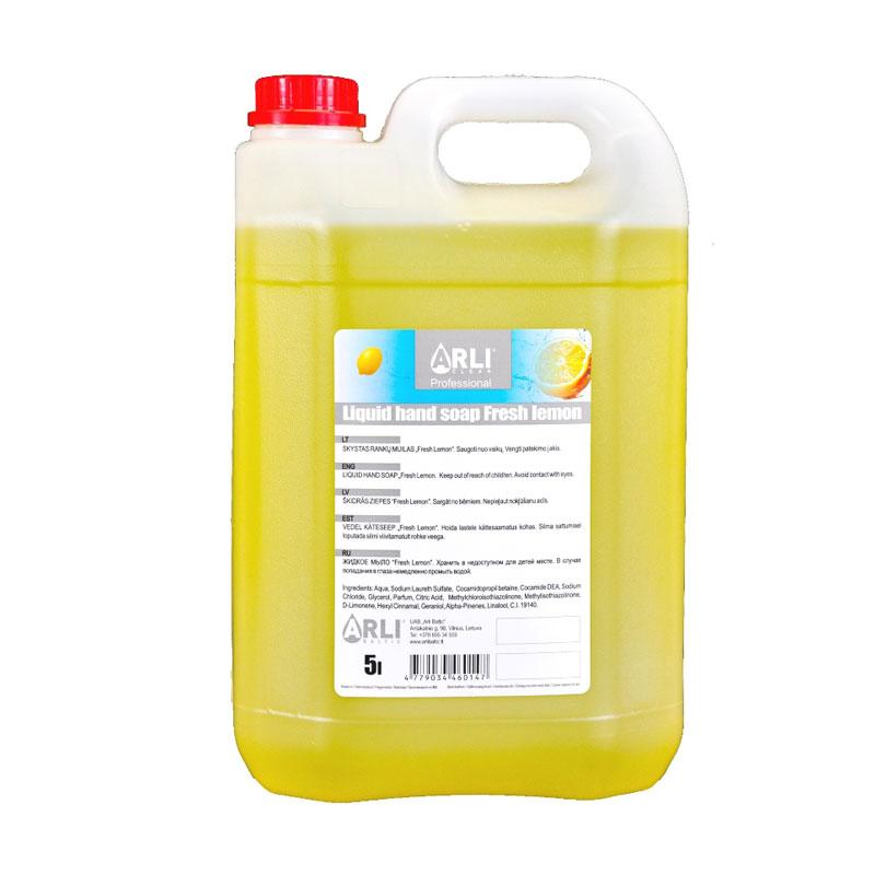 Šķidrās ziepes ARLI CLEAN Fresh lemon, 5 l