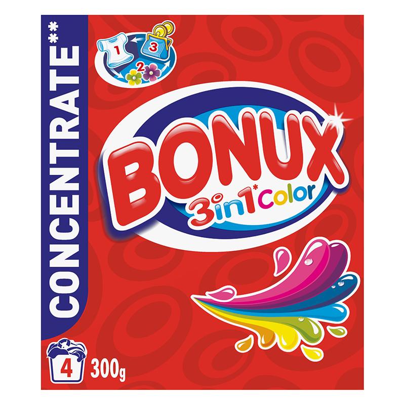 Veļas pulveris BONUX Color, 300 g