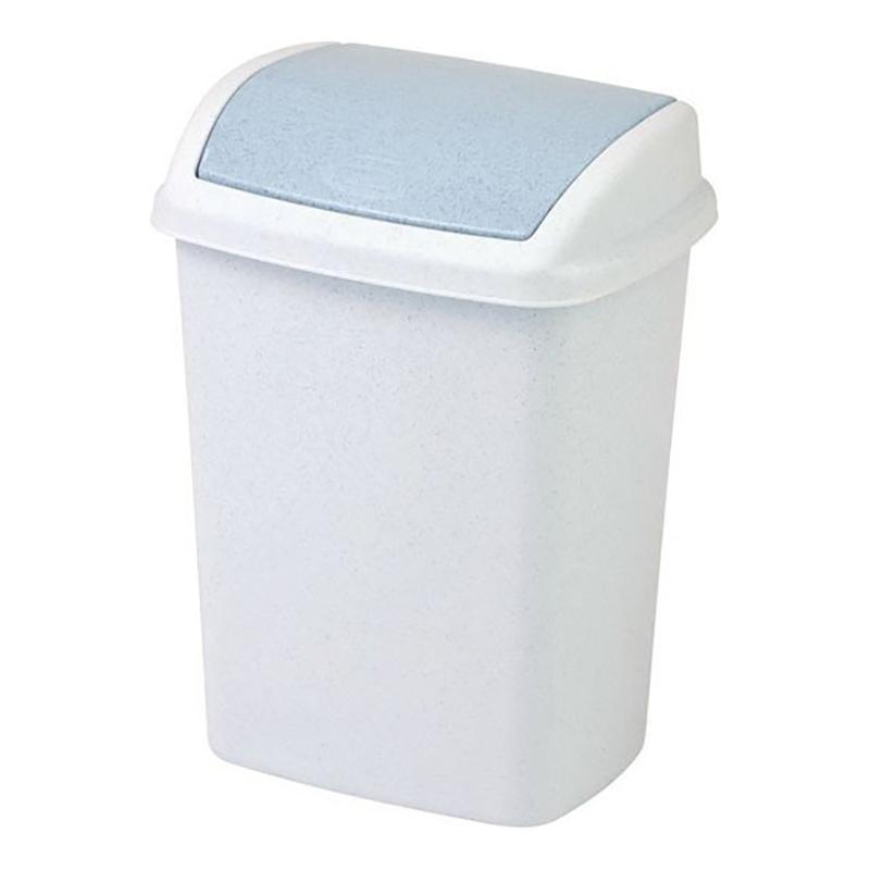 Atkritumu tvertne ar šūpoļveida vāku, 25 L, marmora krāsā