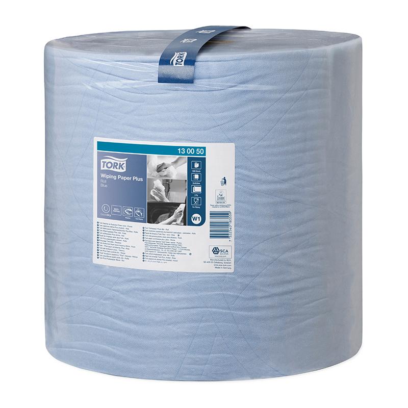 Industriālais papīrs TORK Advanced 420 W1, 2 sl., 1500 lapas rullī, 36.9 cm x 510 m, zilā krāsā