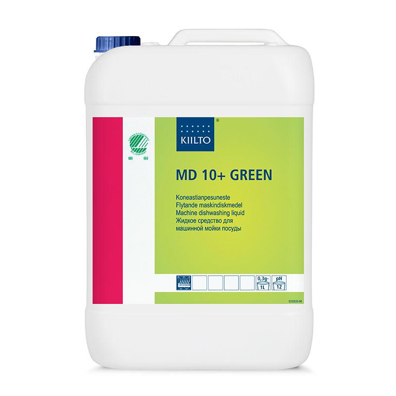 Trauku mazgāšanas līdzeklis mazgāšanas mašīnām KIILTO MD 10+ Green, 10 L