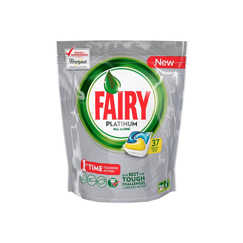 Kapsulas trauku mazgāšanas mašīnām FAIRY PLATINUM Lemon, 37 kapsulas