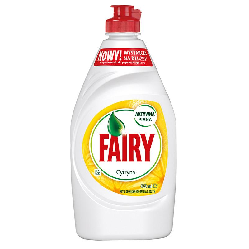 Trauku mazgāšanas līdzeklis FAIRY Lemon, 450 ml