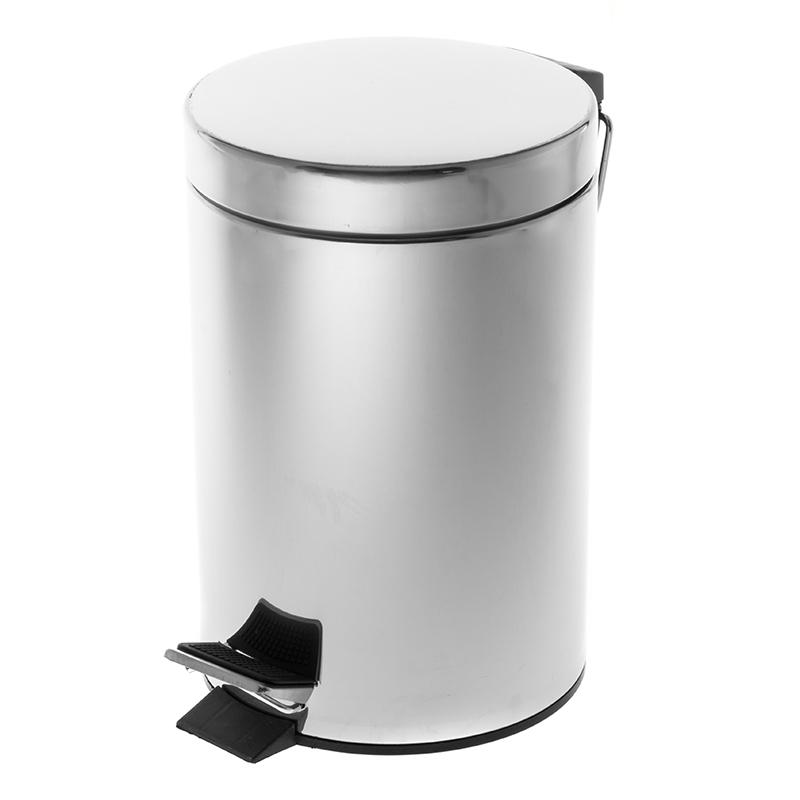 Atkritumu tvertne SAIMA ar pedāli 3 L, sudraba krāsā