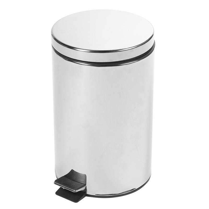 Atkritumu tvertne SAIMA ar pedāli 12 L, sudraba krāsā